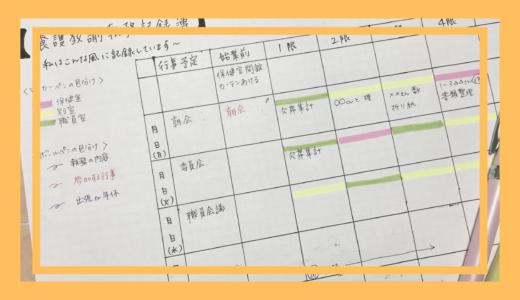 私の執務記録簿の書き方 マーカーペンと3色ボールペン